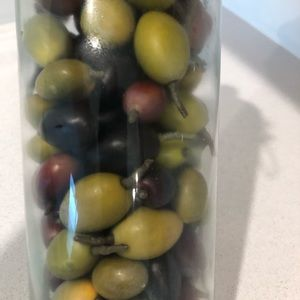 None Accents - Faux Olives in Canning Jar